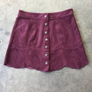 American Eagle Outfitters Wine Snap Skirt Size 6
